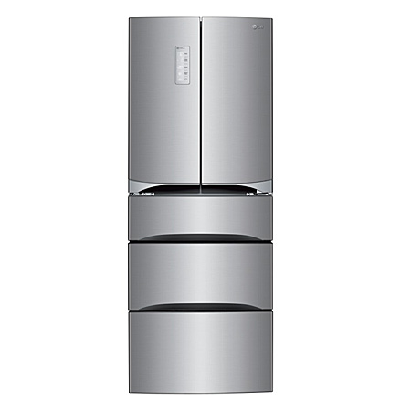 LG GB6140PZQV, American Style 5 Door Fridge Freezer Combination. A+ Energy Rating - Brushed Steel