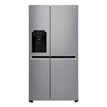 LG GSL761PZXV, US Style Side by Side Fridge Freezer in Stainless Steel with A+ Energy Rating Non Plumbed & Water Dispenser