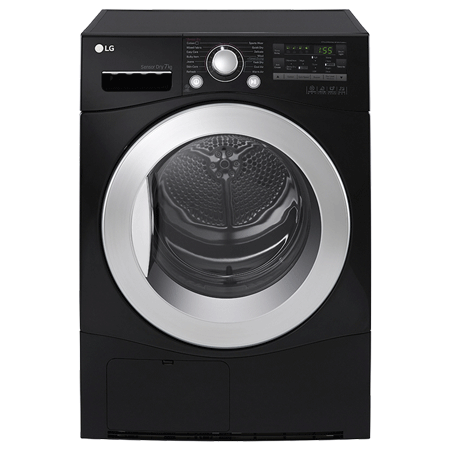 LG RC7066B2Z, 7kg Condenser Dryer - Black