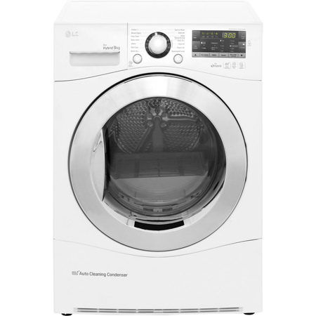 LG RC9055AP2F, 9 kg ECO Hybrid Condenser Tumble Dryer With Heat Pump, Smart Diagnosis & A++ Energy Efficiency