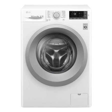 LG W5J5TN4WW, 8kg 1400rpm Smart Washing Machine White