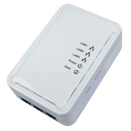Lawton NLHP2003PORT, Powerline Ethernet Adaptor Kit (200Mbps) with 3 Port
