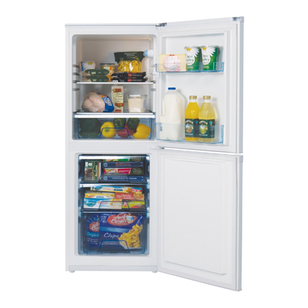 Lec Tf55142w Freestanding Fridge Freezer In White Ex