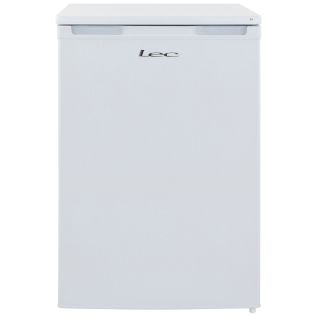 Lec L5511W, 55cm under counter larder 134 ltr capacity energy rating A+ with glass shelves Auto defrost  resessed handle White