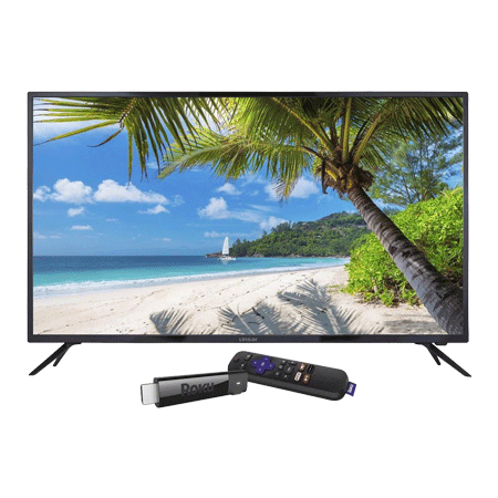 Linsar 55UHD520, 55 inch Ultra HD 4K LED TV with Freeview HD - Black with Smart Roku Streaming Stick Incl. in Box