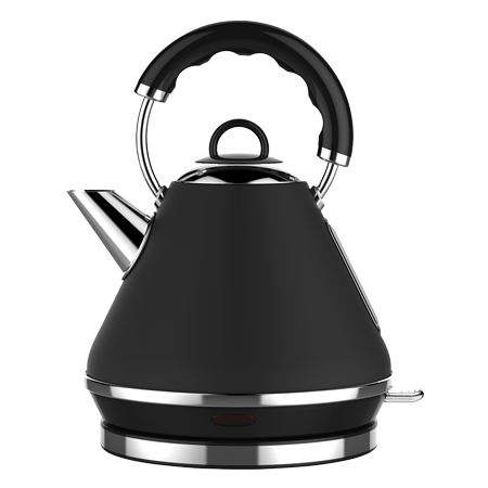 Linsar PK117BLACK, PK117Black Electric Pyramid Cordless Kettle