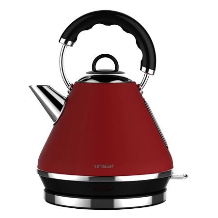 Linsar PK117RED, PK117Red Electric Pyramid Cordless Kettle