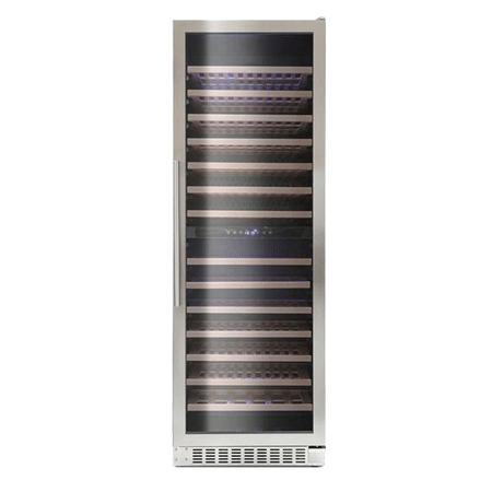 Montpellier WS166SDX, 166 Bottle Wine Cooler in Stainless Steel