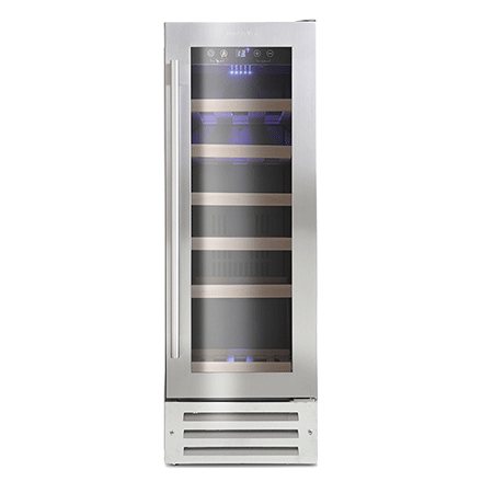 Montpellier WS19SDX, 19 Bottle Wine Cooler in Stainless Steel