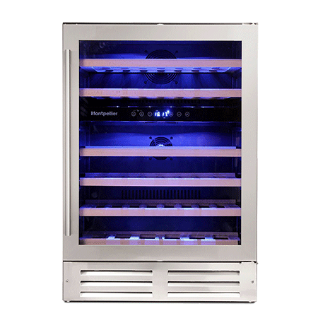 Montpellier WS46SDX, 46 Bottle Wine Cooler Wine Cooler in Stainless Steel