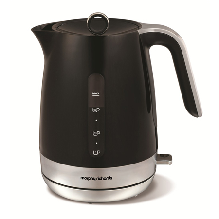 Morphy Richards 101402-Kettle, Jug Kettle in Black and Chrome