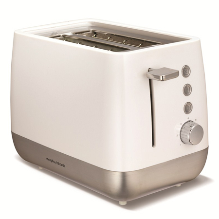 Morphy Richards 221151-Toaster, Toaster in White and Chrome
