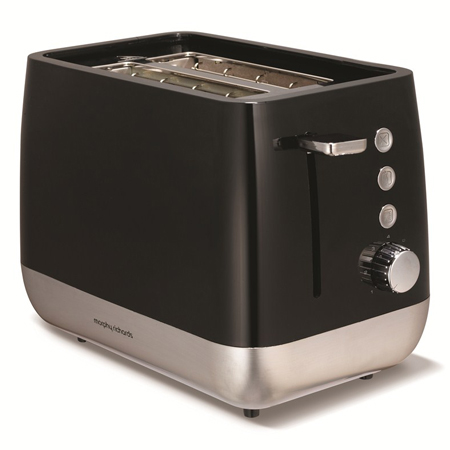 Morphy Richards 221152-Toaster, Toaster in Black and Chrome