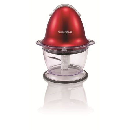 Morphy Richards 48563-Chopper, Translucent Chopper Red