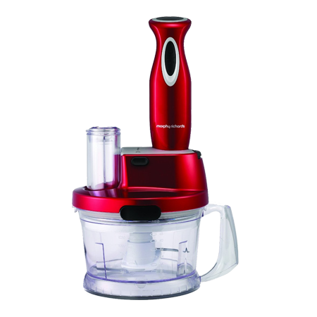 Morphy Richards 48919-Hand Blender, Hand Blender Work Centre Red