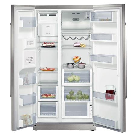 neff k3990x7gb us style side by side fridge freezer fully. Black Bedroom Furniture Sets. Home Design Ideas