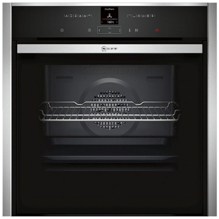 NEFF B57CR23N0B, Pyrolytic Multifunction Electric Single Oven Black Glass with Programmer