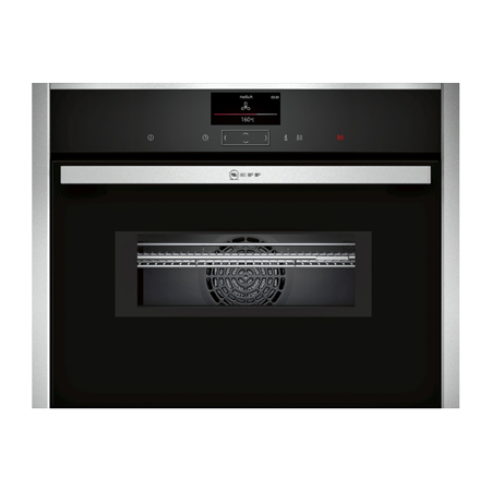 NEFF C17MS32H0B, Built In Compact Electric Single Oven with Microwave Function - Stainless Steel