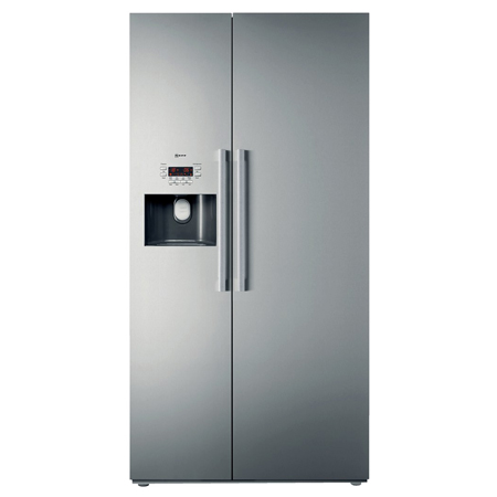 NEFF K3990X7GB, US Style Side by Side Fridge Freezer Fully clad stainless steel