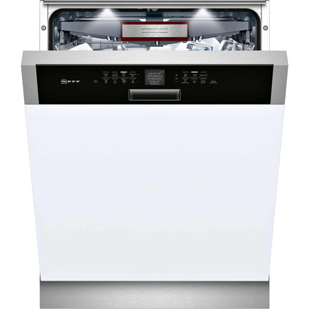 NEFF S416T80S0G, Semi Integrated Dishwasher with 14 place setting - Black Control Panel - A++ Rated