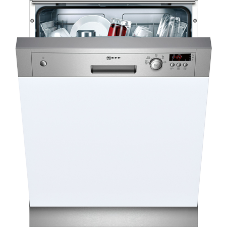NEFF S41E50N1GB, Semi Integrated Dishwasher in Stainless Steel with 12 place settings and A+ Energy Rating