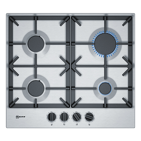 NEFF T26DS49N0, 60cm Gas Hob with Cast Iron Pan Supports