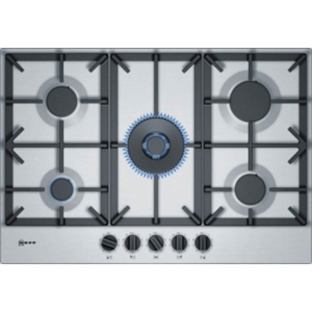 NEFF T27DS59N0, 75cm 5 BurnerWok Gas Hob with Cast Iron Pan Supports