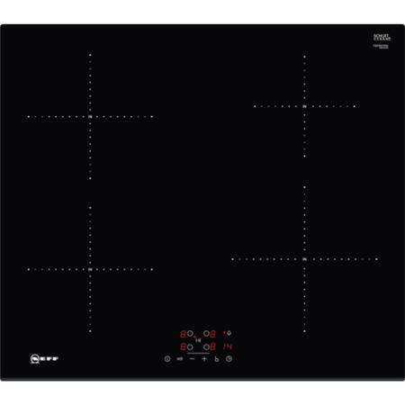 NEFF T36FB41X0G, 4 Zone Induction Hob with Touch Controls with 13amp Plug