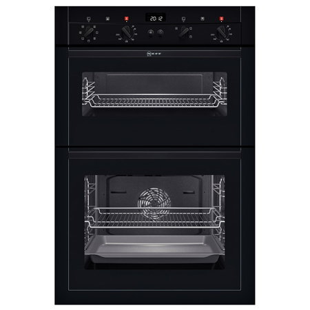 NEFF U14M42S3GB, Double Fan Assisted Oven Black