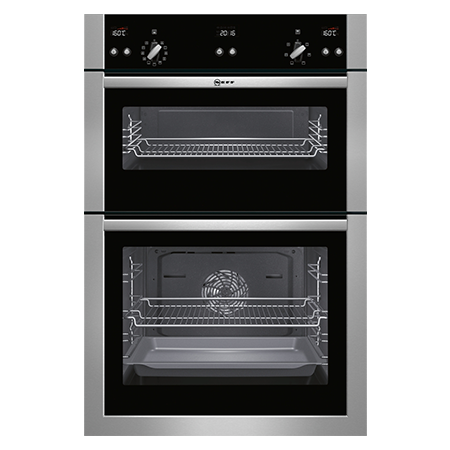 NEFF U15E52N5GB, Fan Assisted Electric Double Oven in Stainless steel with A rated Energy Ex-Display Model