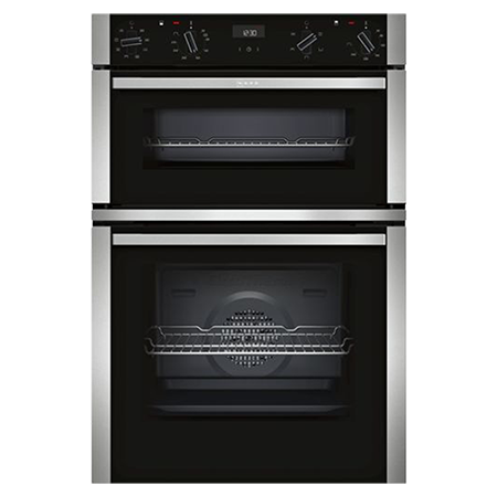 NEFF U1ACE2HN0B, Built In Double Oven - Stainless Steel - A/B Rated