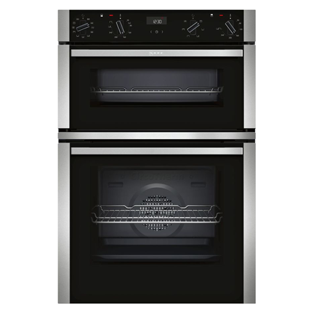 NEFF U1ACI5HN0B, Built In Double Oven - Stainless Steel - A/B Rated