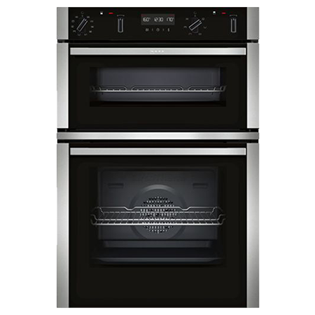 NEFF U2ACM7HN0B, Built In Double Oven - Stainless Steel - A/B Rated