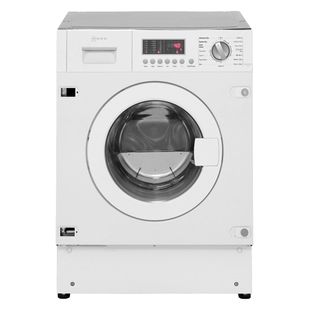 NEFF V6540X1GB, Built-In 7Kg 1400rpm Washer Dryer White