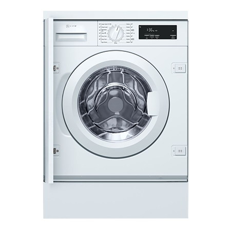 NEFF W543BX0GB, 8kg Integrated Washing Machine, 1400 rpm - White with A+++ Energy Rating