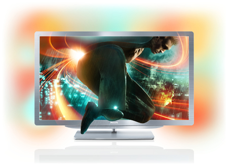 PHILIPS 52PFL9606T, 52 Smart 3D LED TV with Ambilight Spectra XL & Perfect Pixel HD