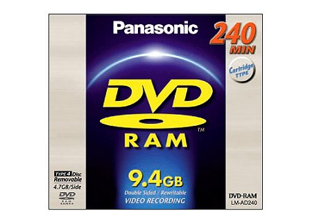 Panasonic LMAD240E DVD Disc, Panasonic LMAF240E Double-sided 240 Minute (9.4GB) 12cm DVD-RAM Disc