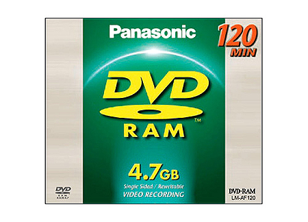 Panasonic LMAF120E DVD Disc, Panasonic LMAF120E Single-sided 120 Minute (4.7GB) 12cm DVD-RAM Disc