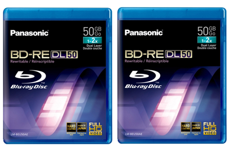 "Panasonic LMBRU50AE2, 2 Pack 50GB 2x Speed Recordable  Blu-Ray Discsâ""¢"