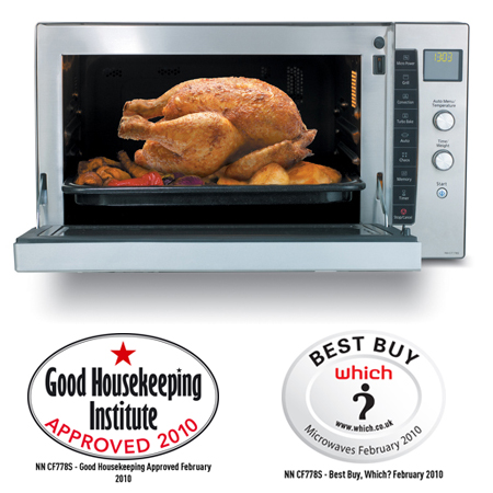 Panasonic NNCF778SBPQ, Flatbed Combination Microwave Oven in Stainless Steel