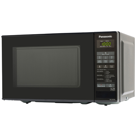 Panasonic NNE281BMBPQ, 800W Compact Microwave Oven in Black