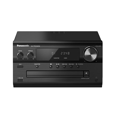 Panasonic SAPMX82MEBK, Wireless Traditional Hi-Fi System. (Spreaker not included)