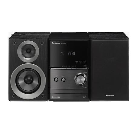 Panasonic SCPM602EBK, DAB/DAB+/FM/CD Bluetooth Wi-Fi Micro Hi-Fi System