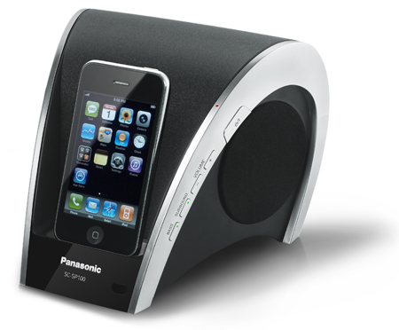 Panasonic SCSP100EBK, iPod Docking Speaker System