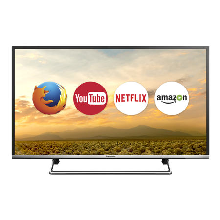 Panasonic TX32DS500B, 32 HD Ready Smart LED TV with Built-In WiFi