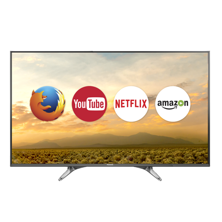 Panasonic TX40DX600B, 40 Ultra HD 4K Smart LED TV with Freeview HD & Built-in Wi-Fi.