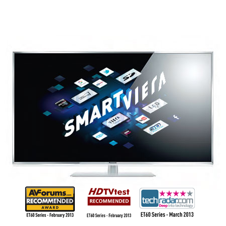 Panasonic TXL42ET60B, 42 Full HD Smart IPS 3D LED TV with 600 Hz Backlight Scanning & Built-In Wifi.Ex-Display
