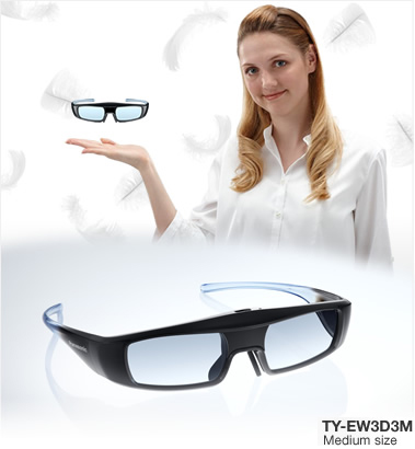 Panasonic TYEW3D3ME, Medium Size 3rd Generation Active 3D Eyeware