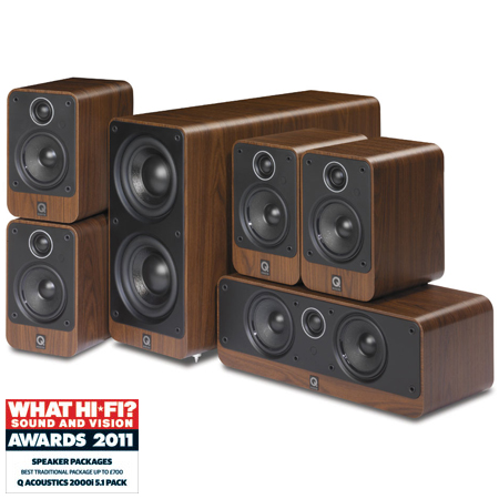 Q Acoustics QA2202, 2000 Series 5.1ch Home Cinema Speakers Package