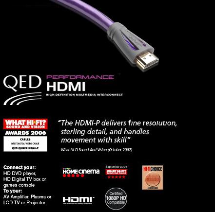 QED PHDMI2, Performance HDMI Lead (2.0m)